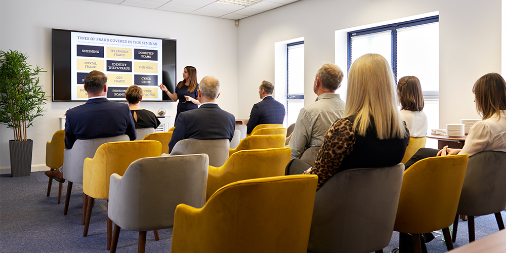We offer the perfect, adaptive space for your meetings and events. Whether you require a typical boardroom layout or a seminar style, we can tailor the room to your needs.